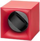 Шкатулка Свисс Кубик ярко красного цвета, выполнена из пластика и работающая от батарейках.