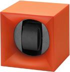 Шкатулка Свисс Кубик ярко оранжевого цвета, выполнена из пластика и работающая от батарейках.