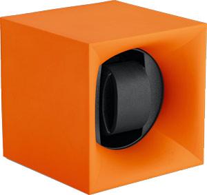 Шкатулка Swiss Kubik для 1 часов автоподзаводом. Корпус из пластика оранжевого цвета