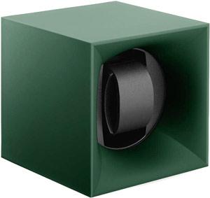 Шкатулка Swiss Kubik для 1 часов автоподзаводом. Корпус из пластика зеленого цвета