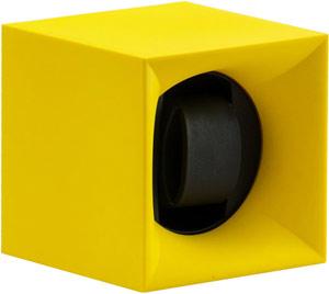 Шкатулка Swiss Kubik для 1 часов автоподзаводом. Корпус из пластика ярко желтого цвета