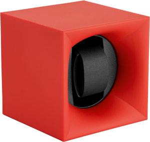 Шкатулка Swiss Kubik для 1 часов автоподзаводом. Корпус из пластика красного цвета