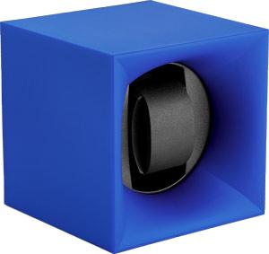 Шкатулка Swiss Kubik для 1 часов автоподзаводом. Корпус из пластика синего цвета