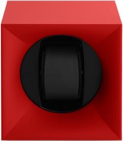 Шкатулка для наручных часов Свисс Кубик красного цвета, выполнена из пластика и работающая от батарейках