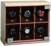 Шкатулка для хранения часов с автоматическим заводом модульного типа для 6 часов