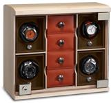 Модульная cистема подзавода для четырех часов с четырьмя отделениями для ювелирных изделий
