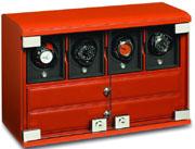 Шкатулка для подзавода 4-х часов + 6 хранения с отделением для ювелирных изделий