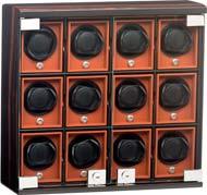 Шкатулка для 12 наручных механических часов. Отделка Macassar.