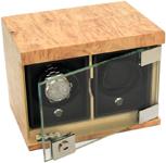 Два модуля для наручных часов в корпусе из массива карельской березы
