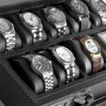 Коллекция Шкатулки для хранения часов 19 наименований стоимостью от 3600 до 17760 руб. Дьявол, как известно, прячется в мелочах. Но есть мнение, что в мелочах как раз кроется  совершенство. Шкатулки для хранения часов WindRose  - и есть та самая мелочь, способная дополнить образ современного респектабельного человека и решить все существующие проблемы с уходом за дорогими механическими либо кварцевыми часами. Строгие классические формы всецело подчинены извлечению из изделия максимума практических свойств, а использование в качестве отделки первоклассной синтетической кожи придает шкатулкам этого признанного немецкого бренда определенный лоск и легкий налет аристократичности. Это замечательный подарок, который не только во всем своеобразии передает аскетичную эстетику делового мира, но и обладает богатым набором необходимых функциональных качеств.