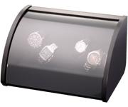 Шкатулка Elma Style 4, для 4 часов черная полированная. Обеспечивает все типы подзавода: по часовой стрелке, против часовой стрелки и переменное вращение. Держатели часов не повреждают часовые ремешки.