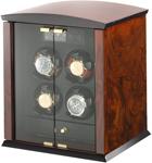 Шкатулка для часов Elma Corona 4 из натурального дерева для завода автоматических часов.