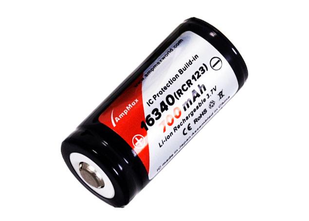 Li-ion AmpMax RCR123A Li-Ion 700 мАч